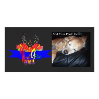 Bandeira do carnaval cartoes com fotos personalizados