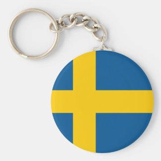 Bandeira do chaveiro da suecia