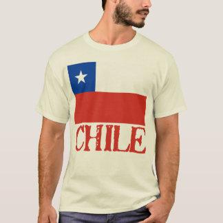 Bandeira do Chile com o camiseta conhecido do