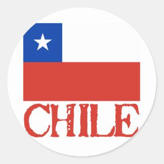 Bandeira do Chile com o camiseta conhecido do Adesivo