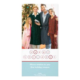 Bandeira do círculo do feriado - azul cartão com foto