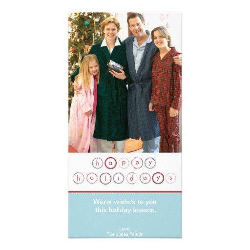 Bandeira do círculo do feriado - azul cartão com fotos