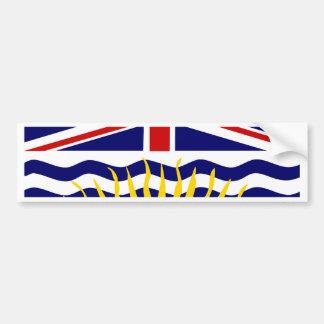 Bandeira do Columbia Britânica de Canadá Adesivo