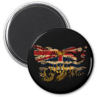 Bandeira do Columbia Britânica Ímã Redondo 5.08cm