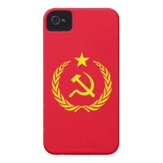 bandeira do comunista da guerra fria do capa de