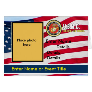 Bandeira do convite do USMC