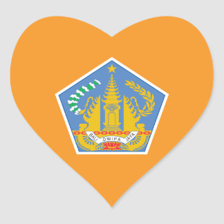 Bandeira do coração de Bali, Indonésia Adesivo Coração