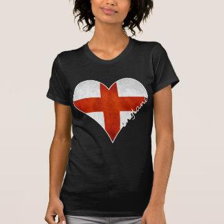 Bandeira do coração de Inglaterra T-shirt