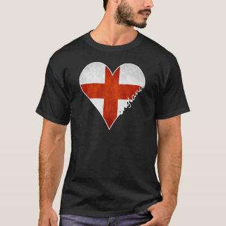 Bandeira do coração de Inglaterra Tshirt