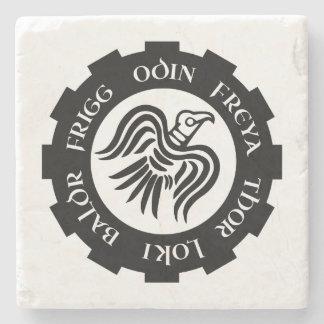Bandeira do corvo dos noruegueses porta copos de pedra