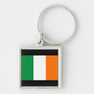 Bandeira do dia de Ireland/St Patrick Chaveiro Quadrado Na Cor Prata