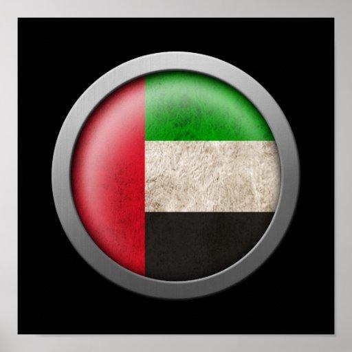 Bandeira do disco de United Arab Emirates Posters