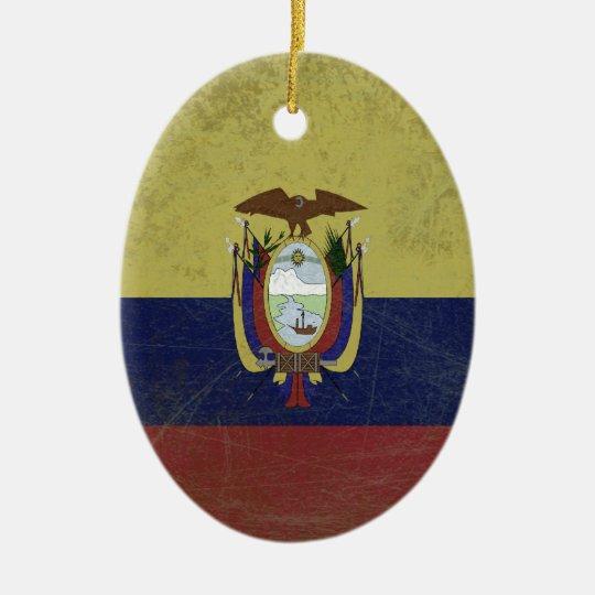 Bandeira do equador ornamento de cerâmica