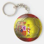 Bandeira do espanhol da bola do Grunge do futebol