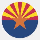 Bandeira do estado da arizona adesivo redondo