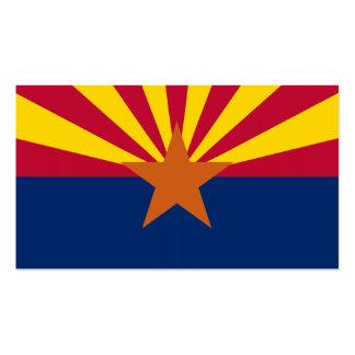 Bandeira do estado da arizona cartão de visita