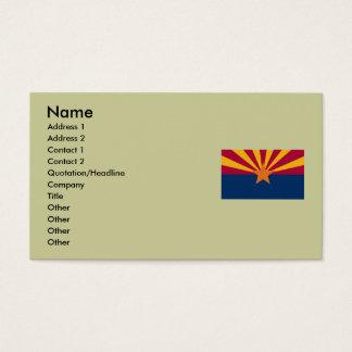 Bandeira do estado da arizona cartão de visitas