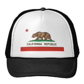 Bandeira do estado da república de Califórnia Bonés