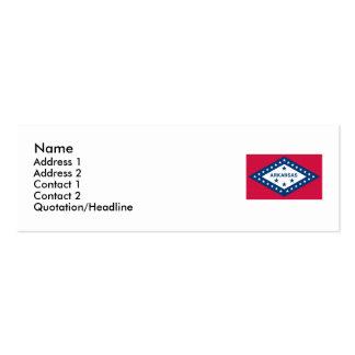 Bandeira do estado de Arkansas Cartão De Visita Skinny