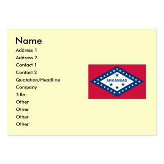 Bandeira do estado de Arkansas Cartão De Visita Grande