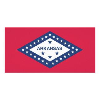 Bandeira do estado de Arkansas Cartao Com Foto