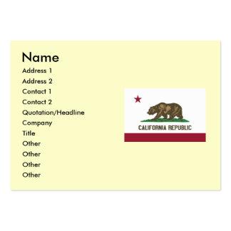 Bandeira do estado de Califórnia Cartão De Visita Grande