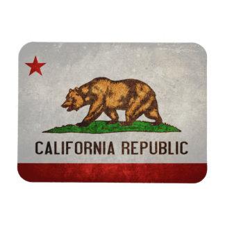 Bandeira do estado de Califórnia Foto Com Ímã Retangular