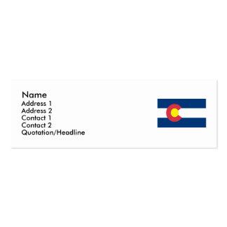 Bandeira do estado de Colorado Cartão De Visita Skinny