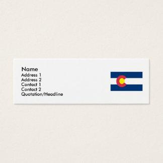 Bandeira do estado de Colorado Cartão De Visitas Mini