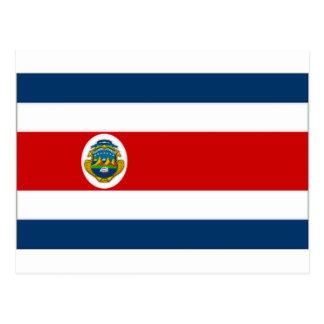 Bandeira do estado de Costa Rica Cartão Postal