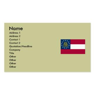 Bandeira do estado de Geórgia Cartoes De Visita