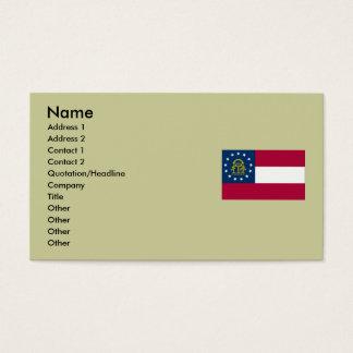 Bandeira do estado de Geórgia Cartão De Visitas
