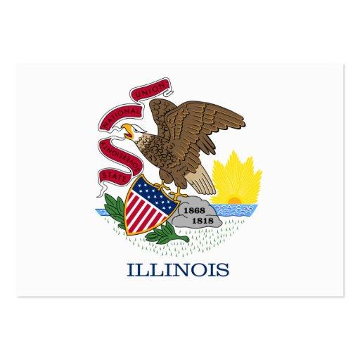 Bandeira do estado de Illinois Cartoes De Visita