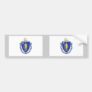 Bandeira do estado de Massachusetts Adesivo Para Carro
