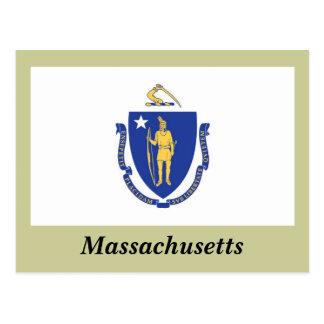 Bandeira do estado de Massachusetts Cartão Postal