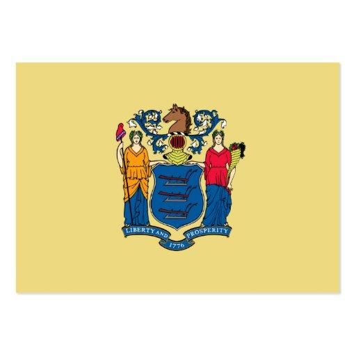 Bandeira do estado de New-jersey Cartao De Visita