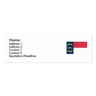 Bandeira do estado de North Carolina Cartão De Visita Skinny