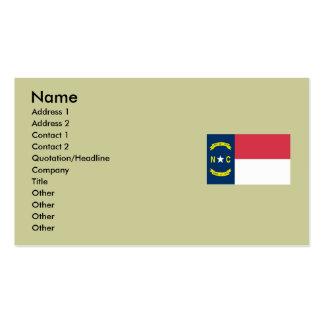 Bandeira do estado de North Carolina Cartão De Visita