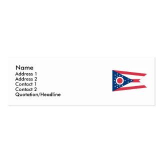 Bandeira do estado de Ohio Cartoes De Visitas