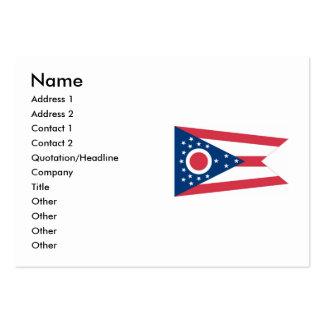 Bandeira do estado de Ohio Cartão De Visita Grande