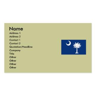 Bandeira do estado de South Carolina Cartões De Visitas