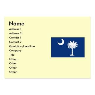 Bandeira do estado de South Carolina Cartão De Visita Grande