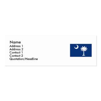 Bandeira do estado de South Carolina Cartão De Visita Skinny