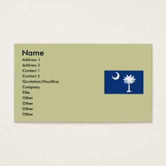 Bandeira do estado de South Carolina Cartão De Visitas