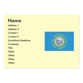Bandeira do estado de South Dakota Cartão De Visita Grande