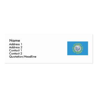 Bandeira do estado de South Dakota Cartão De Visita Skinny