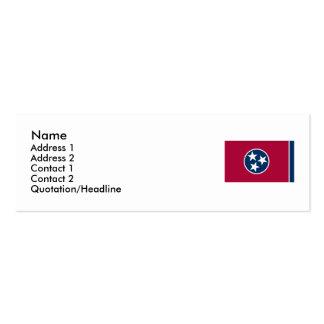 Bandeira do estado de Tennessee Cartão De Visita Skinny