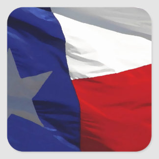 Bandeira do estado de Texas Adesivo Quadrado