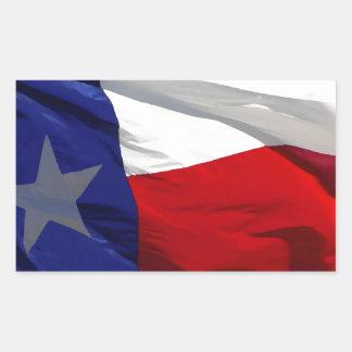 Bandeira do estado de Texas Adesivo Retangular