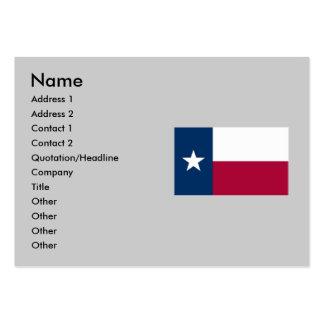 Bandeira do estado de Texas Cartão De Visita Grande